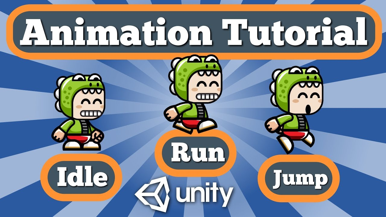 Unity 2D Animation Tutorial - Idle Run Jump Animations And Transitions  Between Them Using C# Script