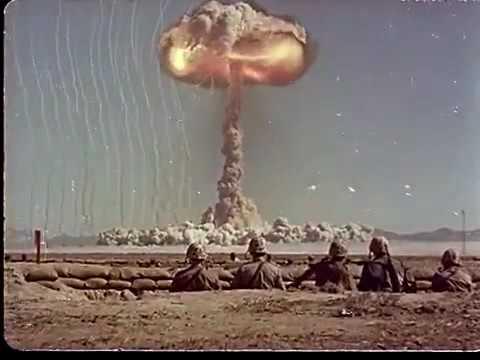 Тест атомного оружия на полигоне в Неваде, 1950-е