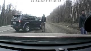 Развод на дороге с кольцом, Красноярский край