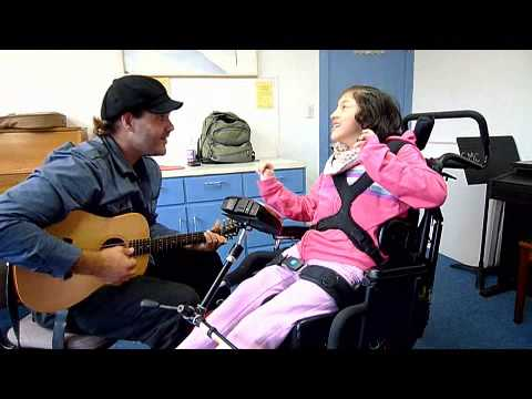 Amber's Music Therapy Session with Adaptive Communication Device