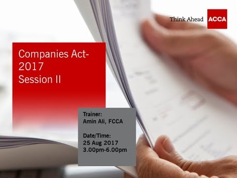 Companies Act 2017 - Session II