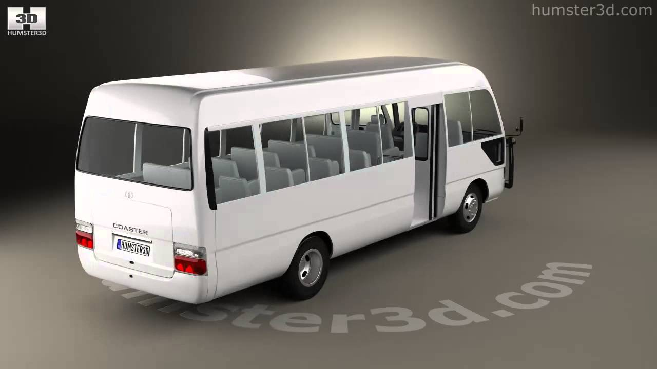 toyota coaster with hq interior 2014 by 3d model store
