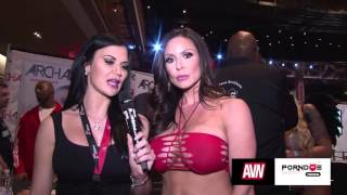 PornDoe Premium interview with Kendra Lust @ the AEE Expo 2016