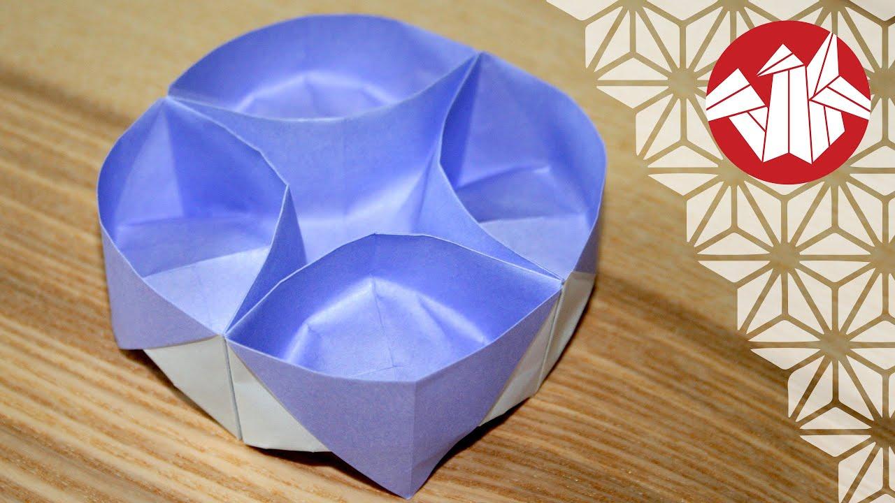 tuto origami plateau lazy susan senbazuru youtube. Black Bedroom Furniture Sets. Home Design Ideas