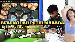 Tarik Siss SEMONGKOO Dj Burung Lah Putih Maradai Tiktok viral 2020 | Real Drum Cover
