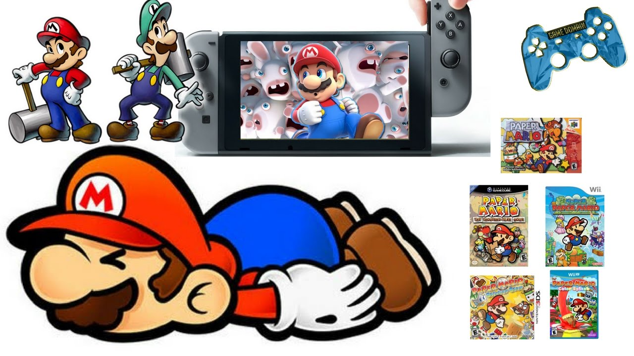 What will happen to paper mario nintendo switch youtube for Housse nintendo switch mario