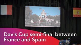 La semifinal de Copa Davis entre Francia y España