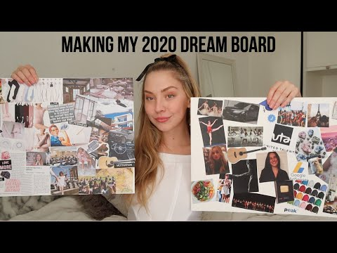 making my dream board for 2020