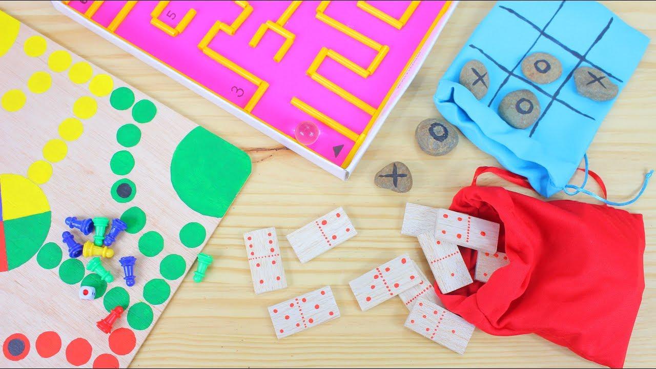 3 Juegos Caseros De Mesa Diy Youtube