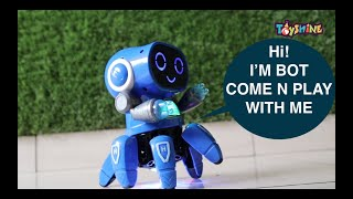 Dancing Robot Toy With Music Lights Unboxing and Testing Battery Operated Toy for 2-4 Year Kids