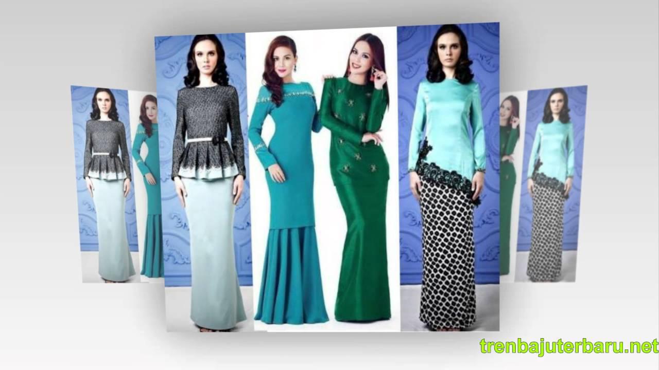 29 Contoh Model Baju Kurung Modern Terbaru Dengan Nuansa Batik Youtube Safety Atasan Kombinasi