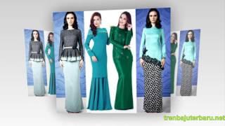 29 contoh model baju kurung modern terbaru dengan nuansa batik