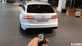 Audi RS6 Performance Matte White Audi Exclusive: In Depth, LED Lights, Interior and more