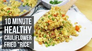 10-Minute Healthy Cauliflower Fried Rice | Quick & Easy Dinner Recipe By Forkly