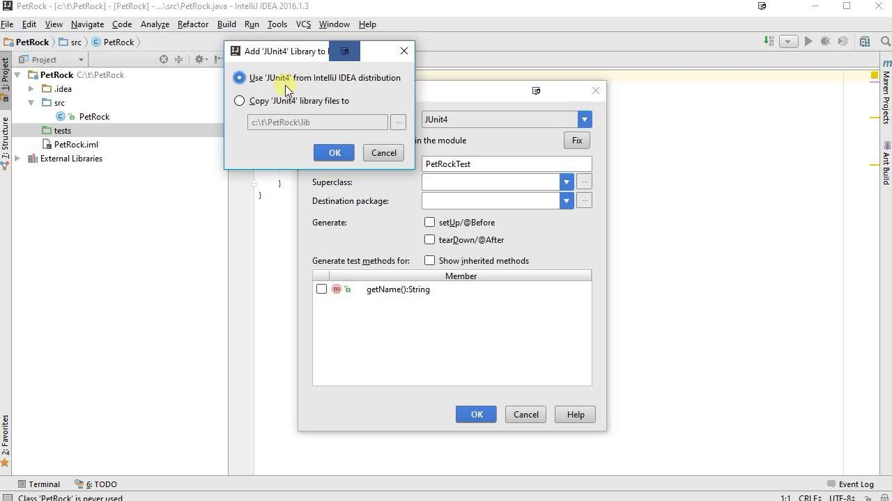 JUnit 4 with IntelliJ: A quick introduction