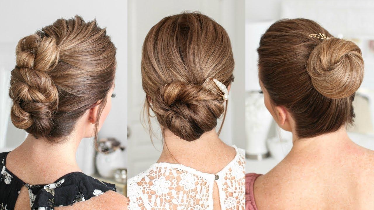 3 Easy Updos For Medium Long Hair