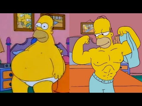 Homer Simpson Body Transformation