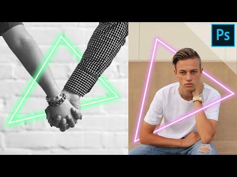 Glowing Neon Triangle | PHOTOSHOP TUTORIAL
