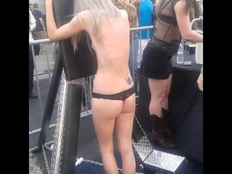 Pretty girl BDSM Submissive Folsom fair sf from YouTube · Duration:  16 seconds