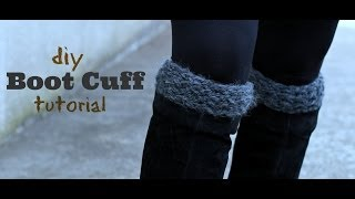 DIY Knitted Boot Cuffs Thumbnail