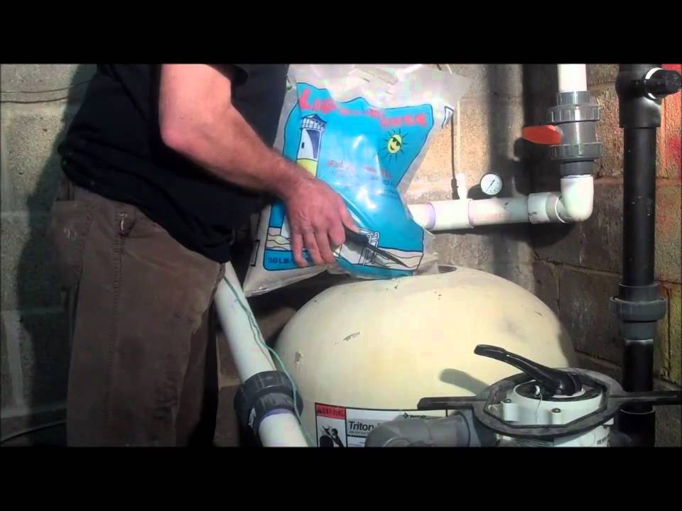 POOLCENTER  How to change pool filter sand  YouTube