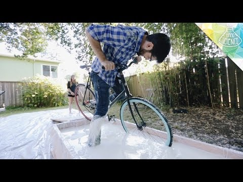 Biking Across a Pool of Cornstarch - Hard Science
