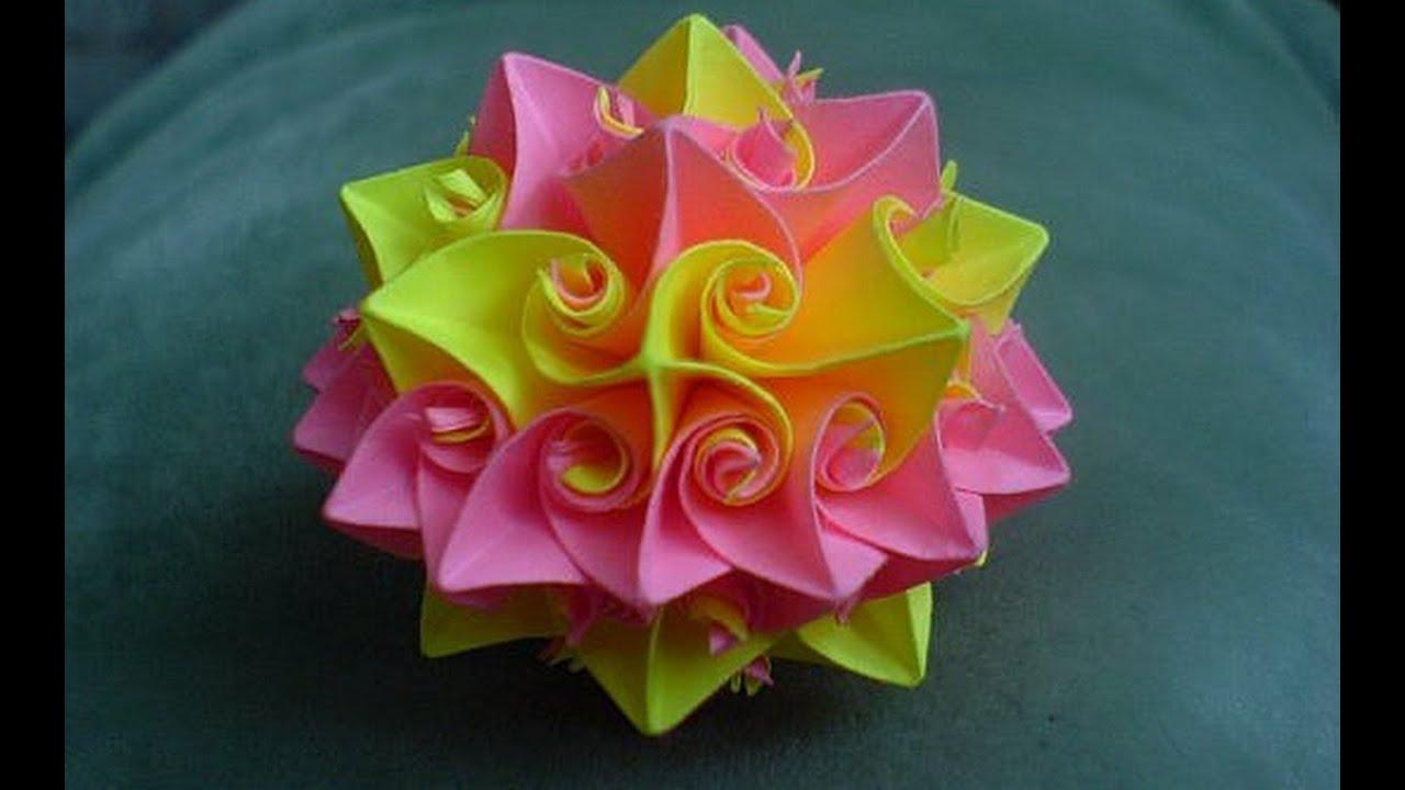 Как сделать объемный цветок схема 758