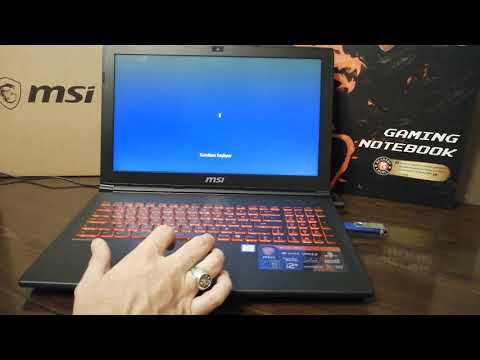 MSI LAPTOPUN SSD DİSKE WINDOWS 10 KURULUM TESTİ MSI GL62M 7RC-246XTR