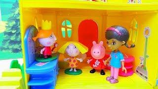 PEPPA PIG LA DOTTORESSA PELUCHE BEN E HOLLY POPPY - Poppy ha perso la voce e deve andare dal dottore