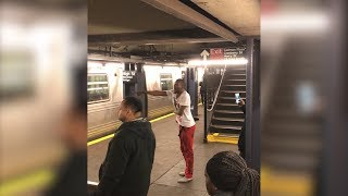 Man Taunts Subway Riders With Knife After Allegedly Stabbing Passenger In Fight