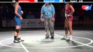 Fargo 2012 108 5th Place Match: Isabell Nunez (Washington) vs. Victoria Smith (California)