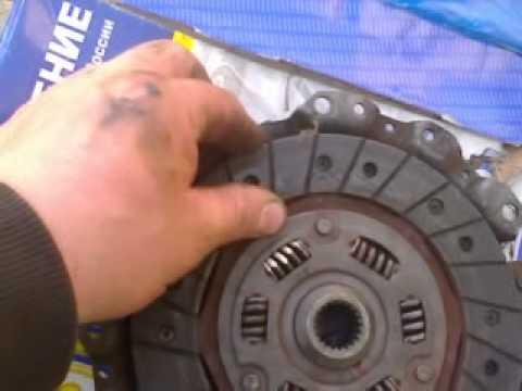 как поставить диск  сцепления без первичного валика с первого раза ваз 2115