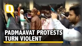Protesters Vandalise a Cinema Hall With Padmaavat Posters in Bihar's Muzaffarpur | The Quint