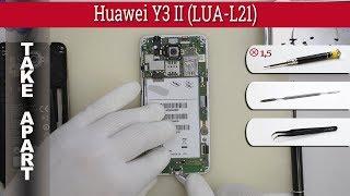 How to disassemble 📱 Huawei Y3 II (LUA-L21) Take apart Tutorial