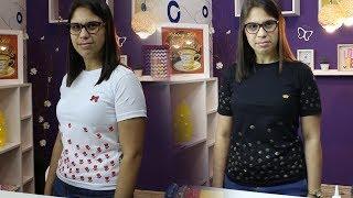 Faça você mesmo Camiseta Personalizada com Carimbo de EVA - Belas Cores