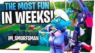 The MOST FUN I've had in Fortnite in WEEKS! - Fortnite Smurfs in Arena
