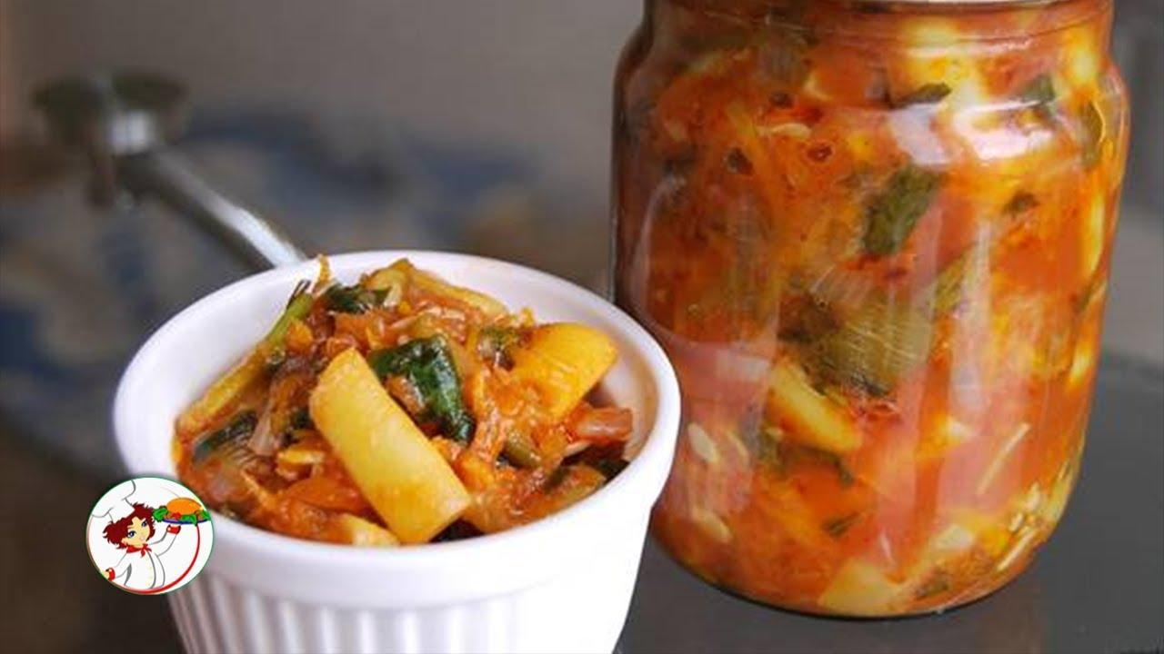 Салат на зиму из стручковой фасоли и моркови. Вкусно и очень сытно.