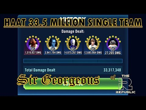 SWGOH: HAAT 33.5 Million with ABC Squad Walkthrough | Sir Georgeous Games
