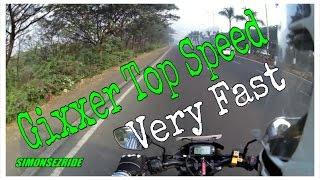 Gixxer Top Speed attempt | Dangerous speeds