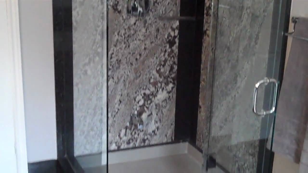 Granite Shower Walls U0026 Granite Vanity   YouTube