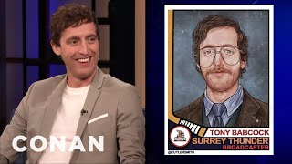 Thomas Middleditch On His Hockey Commentator Character Tony Babcock - CONAN on TBS