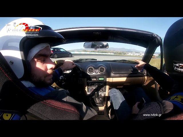 Mazda mx5 driven on Serres Circuit Track-speed.com