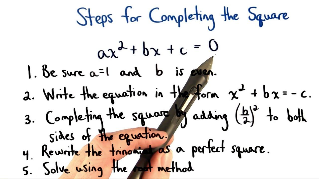Complete The Square Practice 1 Visualizing Algebra