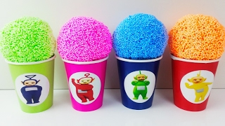 Learn Colors Play Foam Teletubbies Play Doh Modelling Clay Barrel O Slime Stacking Peppa Pig