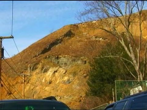 Raw: Landslide at W.Va. Airport Caught on Tape