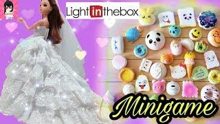 MINIGAME Mở thùng đồ chơi VÁY ĐẦM CÔNG CHÚA LỘNG LẪY, SQUISHY NHỎ XINH/ LIGHT IN THE BOX REVIEW