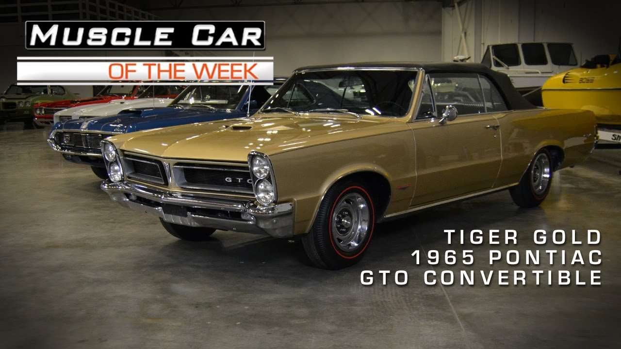 Muscle Car Of The Week Video 14 1965 Pontiac Gto Convertible In