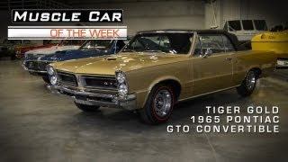 Muscle Car Of The Week Video #14: 1965 Pontiac GTO Convertible in Tiger Gold