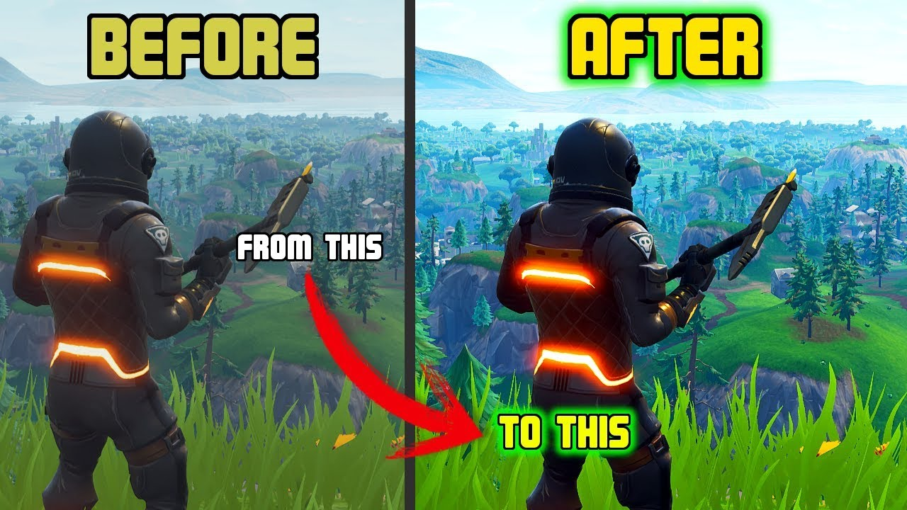 How to MAKE FORTNITE look AMAZING without PERFORMANCE loss!!