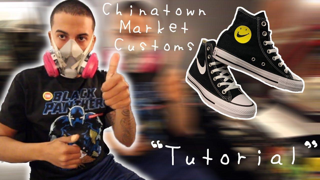 diente Vista movimiento  Custom Nike Converse? Chinatown Market/Nike Air Day (EASY) - YouTube